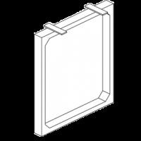 Структура задняя для закрепления фальшпанели или фасада и гостевой столешницы