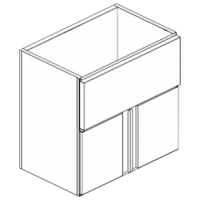 Модуль нейтральный с дверями с широкой верхней стяжкой