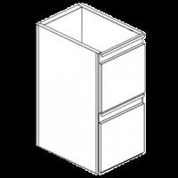 Модуль нейтральный с двумя ящиками