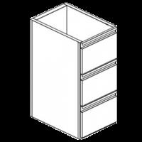 Модуль нейтральный с тремя ящиками