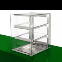 Нейтральная витрина Drop-in с прямым стеклом
