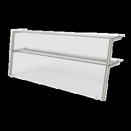 Полка 2 уровня с подсветкой наклонное стекло