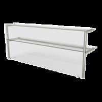 Полка 2 уровня с подсветкой прямое стекло