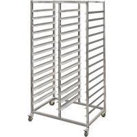 Двойная тележка для  столовых подносов 2 уровня